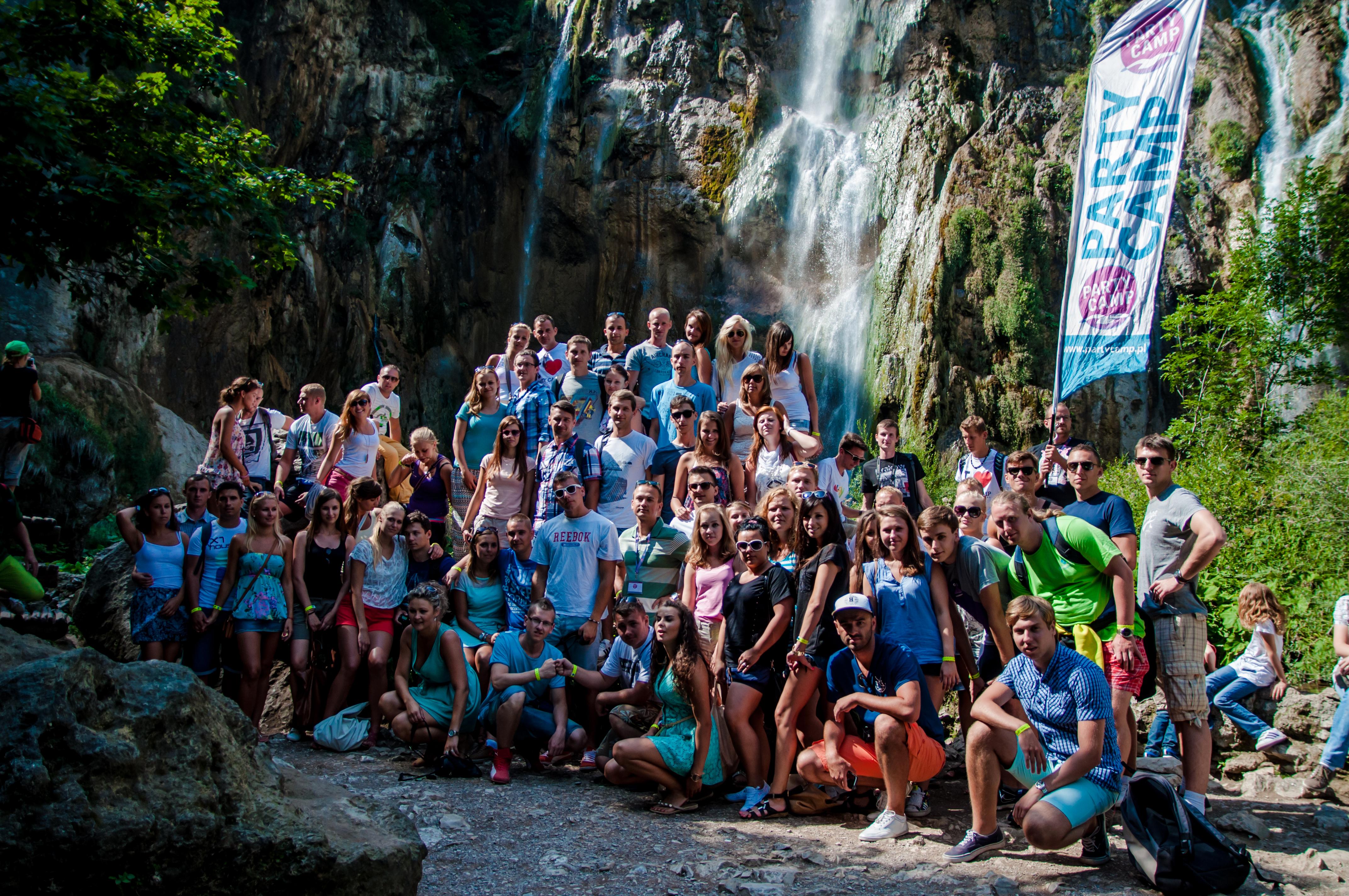 Grupa Wyjazdu Party Camp w PN Jezior Plitwickich